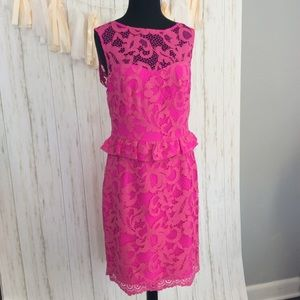Lilly Pulitzer Kiri Lace Peplum Dress Sz 8